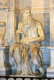 Moses by Michelangelo in San Pietro in Vincoli, Rome,Italy Royalty Free Stock Images