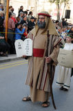 Moses mit den 10 Geboten Lizenzfreies Stockbild