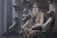 Moses mit Hörnern Stockfotografie