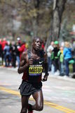 Moses Mosop races up Heartbreak Hill Stock Images