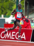 Moses Mosop - Samsung Diamond League - Eugene, OR. Oregon: Kenya's Moses Mosop broke the 30-year-old world record for 30,000 meters run on a track here at the Royalty Free Stock Image
