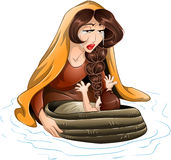 Moses Placed In Water By His Mother Stock Images