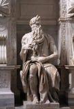 Moses por Michelangelo fotos de stock royalty free