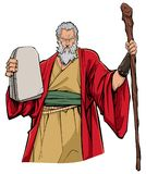Moses Portrait Illustration stock illustratie