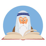Moses reading Passover Haggadah Royalty Free Stock Photography