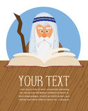 Moses reading Passover Haggadah Royalty Free Stock Image