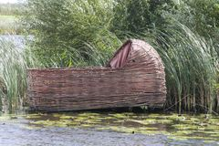 Moses. The rush basket of Moses, Kinderdijk, the Netherlands stock image