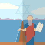 Moses and sea  icon 1 Royalty Free Stock Photography