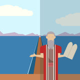 Moses and sea  icon 2 Royalty Free Stock Image