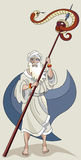 Moses and serpent Stock Photos