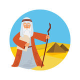 Moses Splitting The Sea - Moses splitting the red sea with the Israelite leaving Egypt. Stock Images