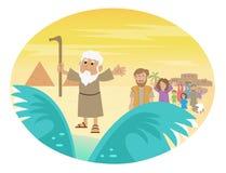 Free Moses Splitting The Sea Stock Image - 49109951