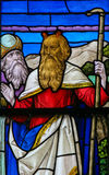 Moses - Stained Glass in Mechelen Cathedral Stock Photography