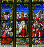 Moses - Stained Glass in Mechelen Cathedral Stock Photo