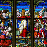 Moses - Stained Glass in Mechelen Cathedral Royalty Free Stock Images