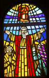 Moses Stained Glass Memorial Church Moses Mount Nebo Jordan Stock Photography
