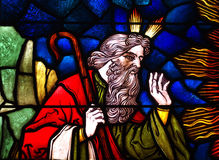 Moses in stained glass Stock Image