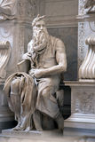 Moses statue Stock Photography