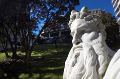Moses-Statue in Myers Park Auckland Stockfotos