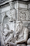 Moses statue. Moses in San Pietro in Vincoli church in Rome Royalty Free Stock Photo