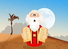 Moses with tables of the ten commandments. Illustration of Moses with tables of the ten commandments Stock Photos