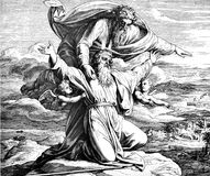 Moses Views Promised Land Lizenzfreies Stockfoto