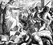 Moses y el becerro de oro Imagen de archivo