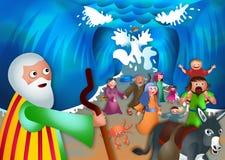 Moses y el Mar Rojo stock de ilustración