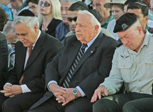 Moshe Katsav and Ariel Sharon Royalty Free Stock Photos