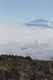 MOSHI,TZ - CIRCA  AUGUST 2010 - Porters along the Machame Route Stock Images