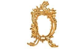 mosiądz antykwarska barokowa rama fotografia royalty free
