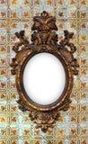 Mosiężna barok rama Fotografia Royalty Free