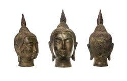 mosiężna Buddha krawędzi głowa Japan zrobił mosiężny dachowym obruszeniom Zdjęcia Stock