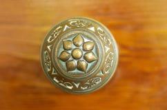 Mosiężna Drzwiowa rękojeść Fotografia Royalty Free