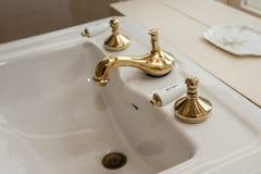 Mosiężna zimnej wody rękojeść Fotografia Royalty Free