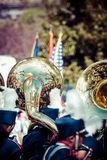 Mosiężnego zespołu parada Zdjęcie Royalty Free