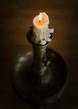 mosiężny candlestick Obrazy Royalty Free