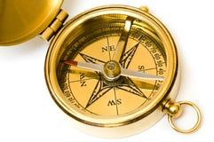 mosiężny kompasowy starego stylu obraz royalty free