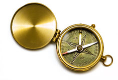mosiężny kompasowy starego stylu Fotografia Royalty Free