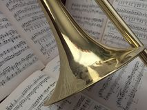 Mosiężny puzon 17 i muzyka klasyczna Obrazy Stock