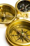 mosiężnych kompasów starego stylu 3 Obrazy Royalty Free