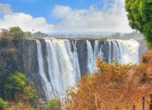 Mosi-oa-Tunya, Victoria Falls, one of the natural wonders of the world Royalty Free Stock Images