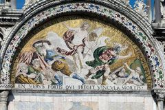 Mosiac on the Basilica San Marco Stock Photography