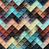 Mosiac with chevron pattern. Royalty Free Stock Photos