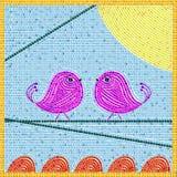 Mosiac de los pájaros del pío Fotografía de archivo libre de regalías