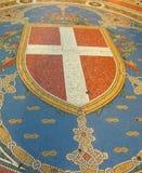 Mosiac del emblema del galleria de Milano   Foto de archivo
