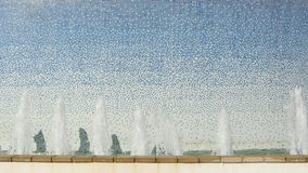 Mosiac water fountain design. 4k video of mosiac water fountain design stock video