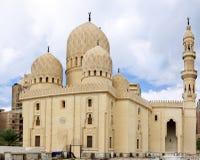 Moské av Abu El Abbas Masjid, Alexandria, Egypten. Arkivfoto