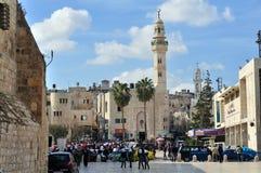 Moské av Omar i Bethlehem Arkivbilder