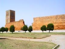 Moské av Yakub al-Mansour och Hassan Tower rabat Royaltyfria Bilder